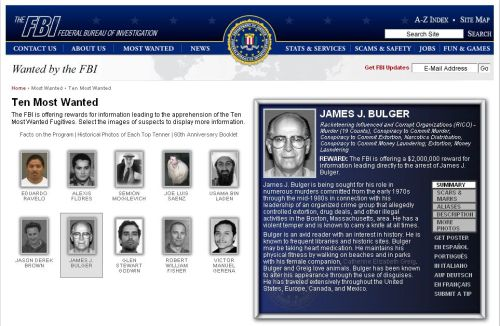 FBI — Ten Most Wanted