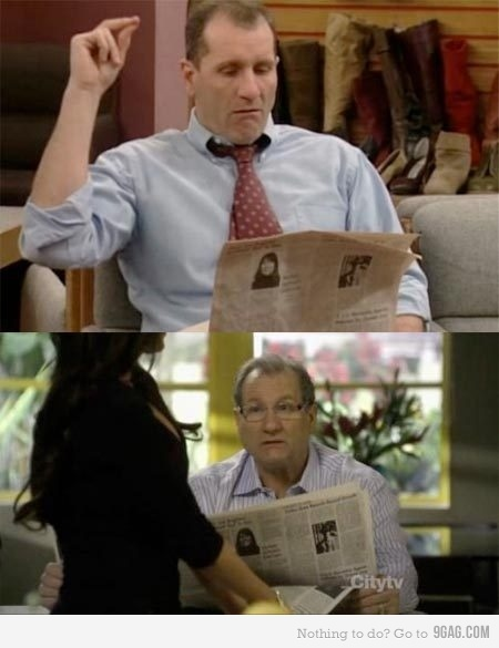 Ed O'Neill has been reading the same newspaper for 20 years