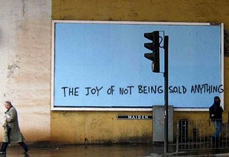 Banksy, on advertising