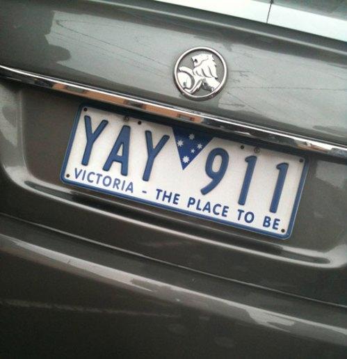 911 license plate