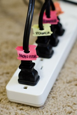 power cord organizer