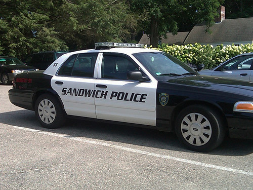 A police car from Sandwich, Massachusetts