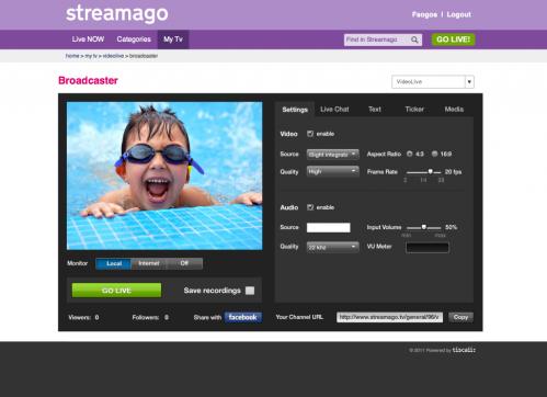 Stream live events through online video