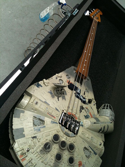 The bass guitar for the Millennium Falcon musician.