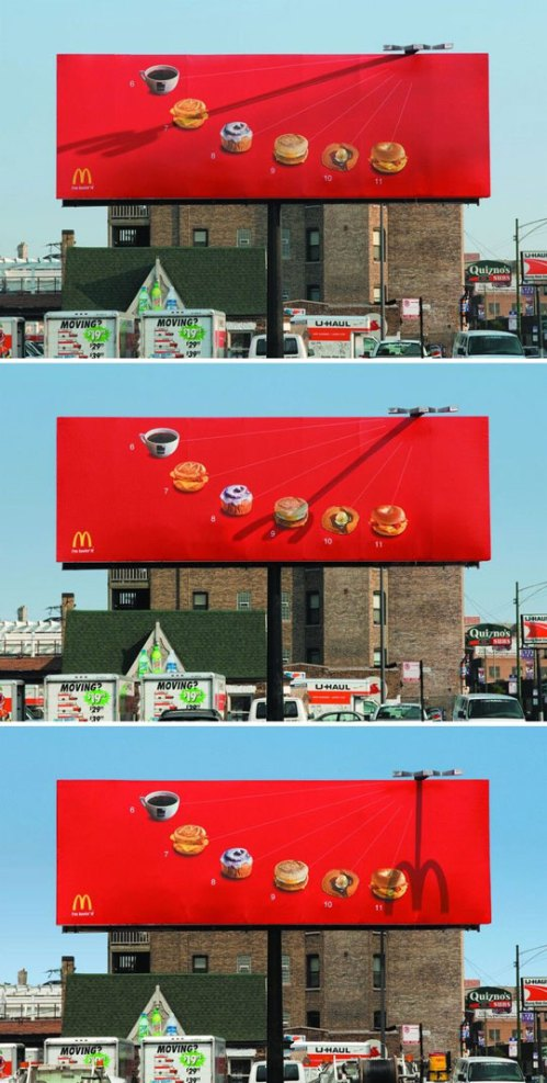 Shadow advertising by McDonald's