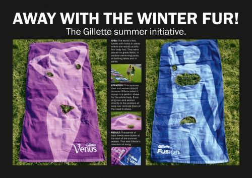 Gillette ad summer towels