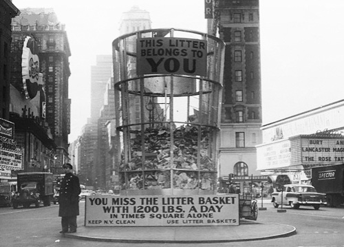 nti-litter ad in the middle of Times Square