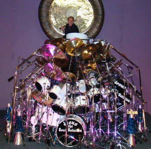 the largest drum set