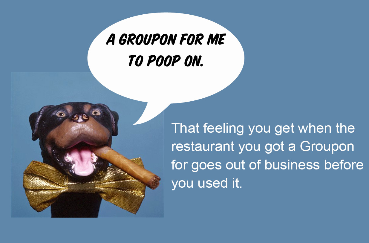 Groupon for me to poop on