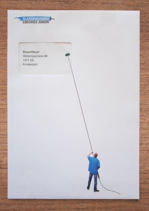 window cleaner envelope by Henk Oortwijn