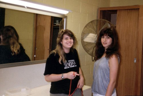 Jennifer Aniston and Chaz Bono in High School