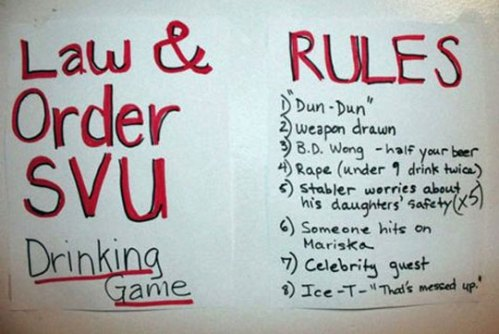 The Law & Order drinking game