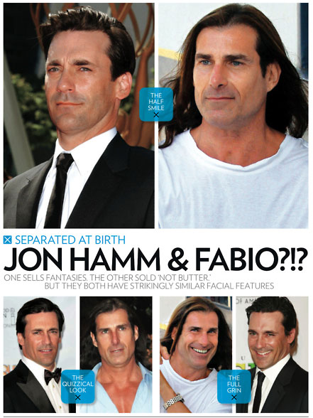 Jon Hamm is basically Fabio