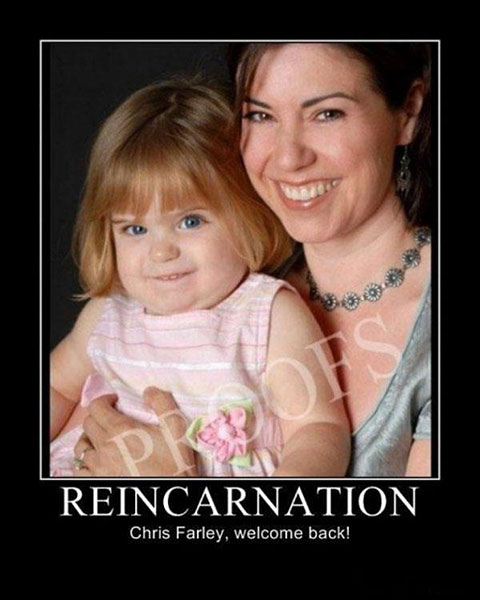 Proof reincarnation is real is evident through this picture of Chris Farley baby.