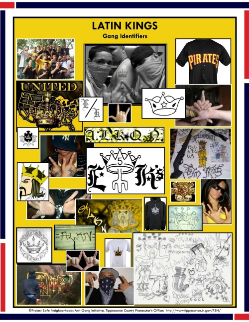 Latin Kings signs and symbols