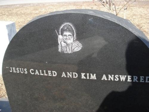 Jesus called gravestone