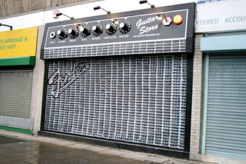 The Guitar Store in Southampton, England