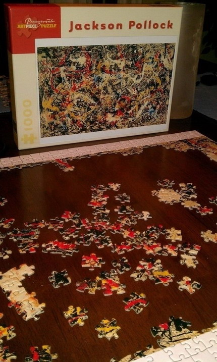 Jackson Pollock's Convergence, as a 1000-piece puzzle.