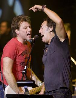 Jon Bon Jovi and Bruce Springsteen