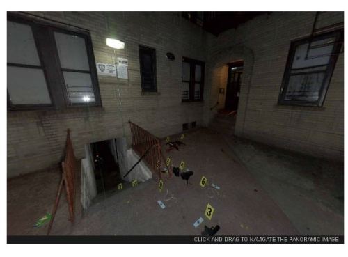 360-degree panoramic images of NYC crime scenes