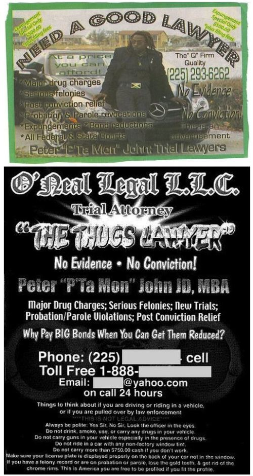 Thugs need lawyers too