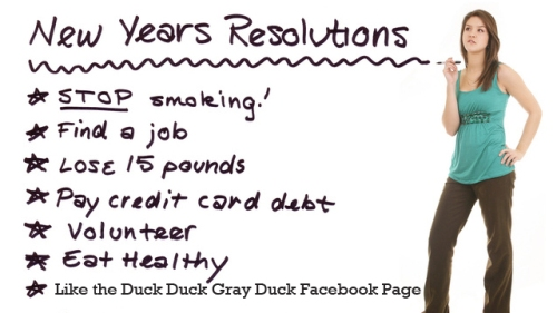 Popular New Year's Resolutions for 2012