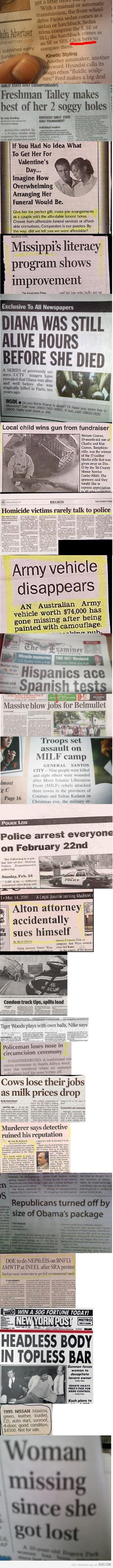 News headline fails