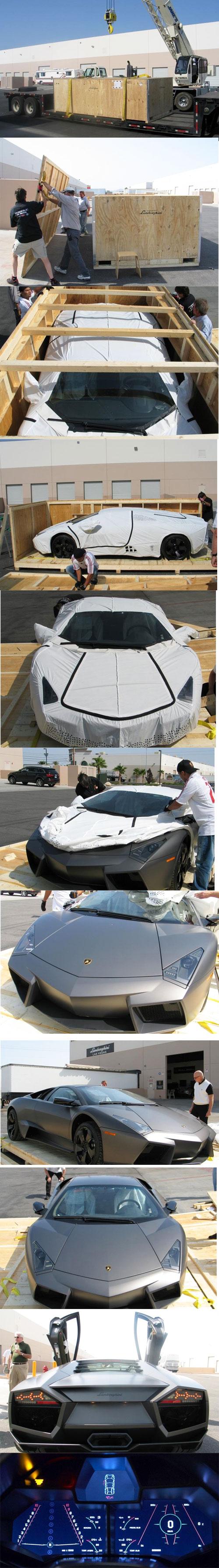 Unboxing a Lamborghini