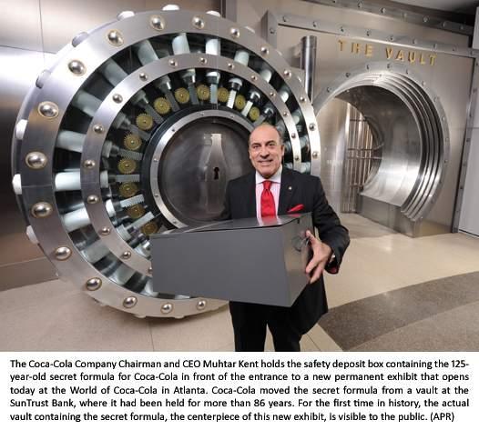 The vault containing the secret formula of coca cola for Vault of secrets