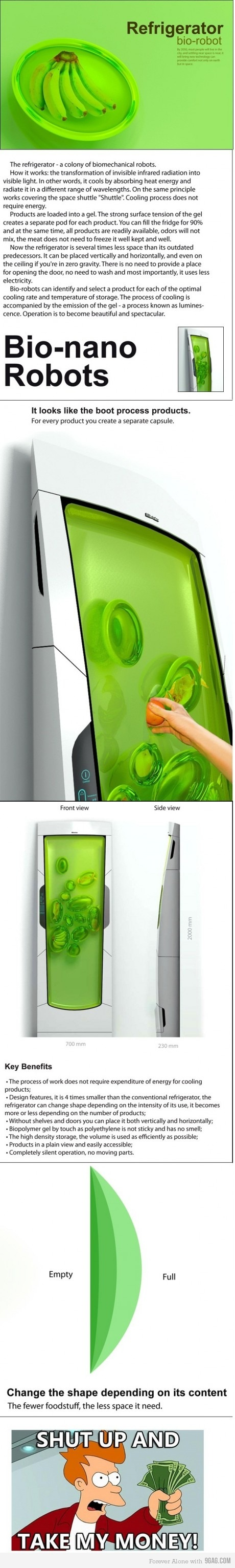 bio-robot refrigerator