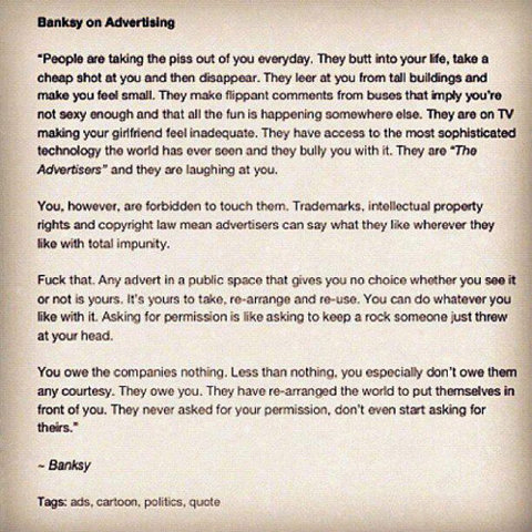 Bansky on Advertising