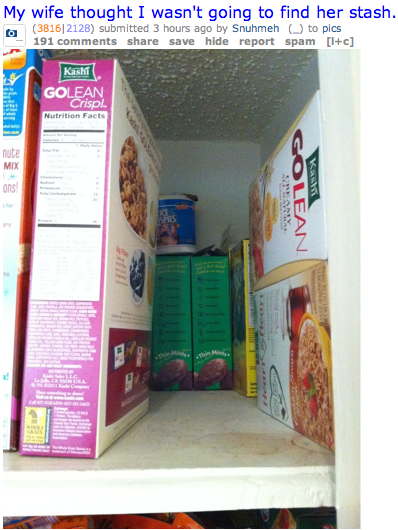 hiding girl scout cookies