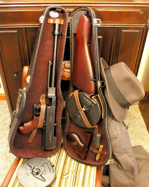 1928 Tommy Gun in a violin case