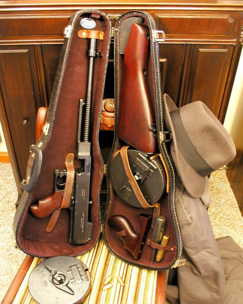 1928 Tommy Gun in a violin case