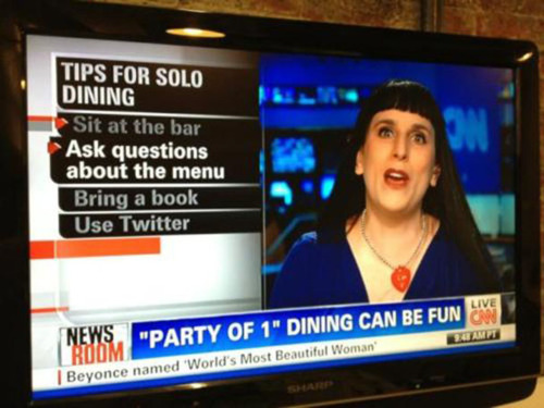 Tips for dining alone