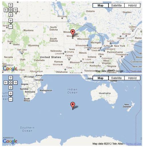 antipodes map