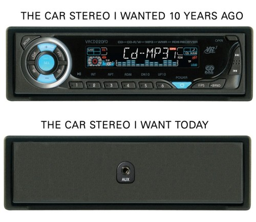Car stereo I wanted 10 years ago v.s. the one I want today.