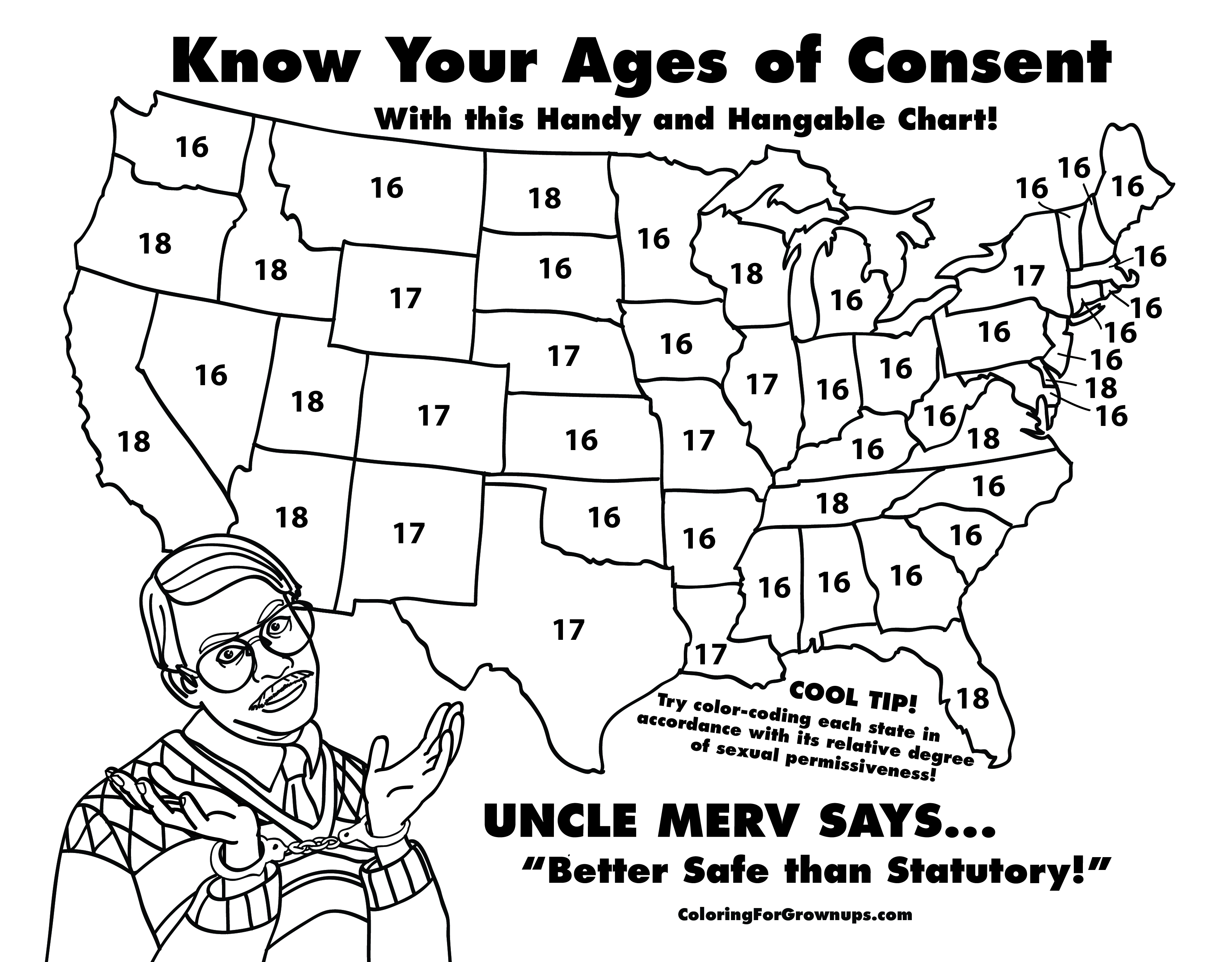 Age of consent map | Duck Duck Gray Duck