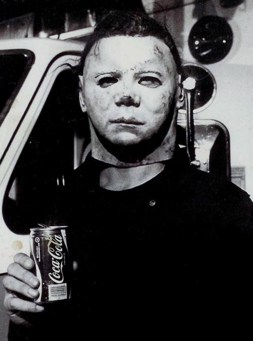 Michael Myers enjoying a Coke