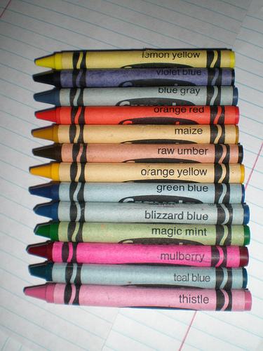 Crayola's thirteen retired colors