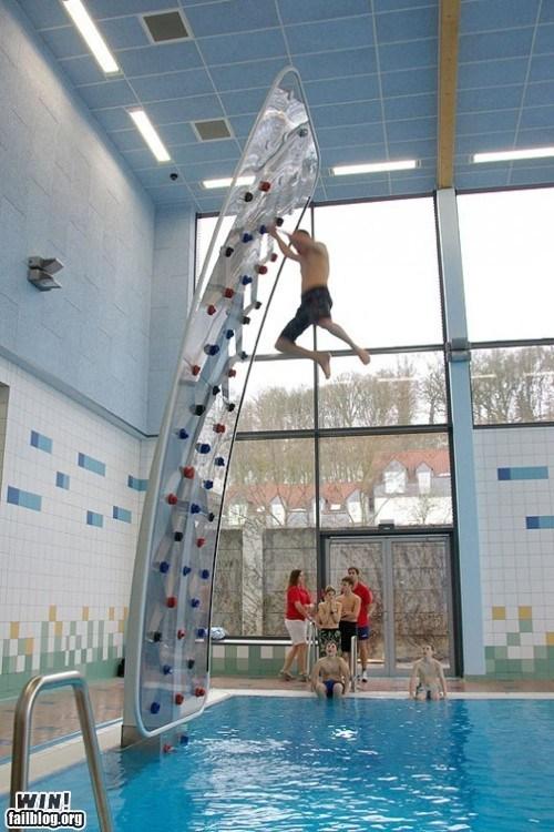 rock climbing pool
