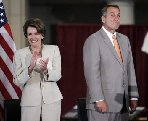 Pelosi and Boehner photo