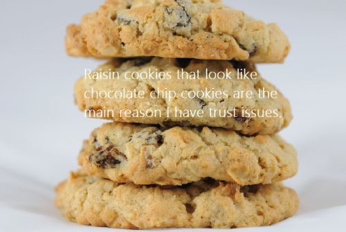 Raisin cookies are why I have trust issues