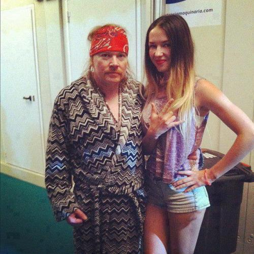 Axl Rose looking old