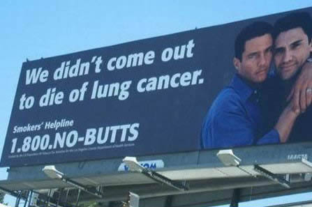 Anti-smoking ad for gay dudes