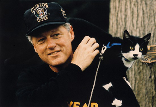 Bill Clinton and Socks