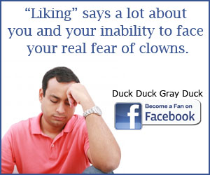 Become a Fan of Duck Duck Gray Duck on Facebook!