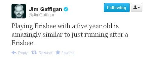 Gaffigan on playing Frisbee