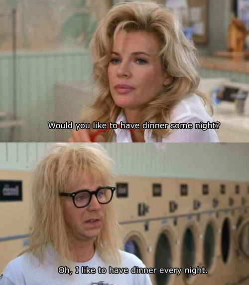 Garth from Wayne's World has trouble reading women.