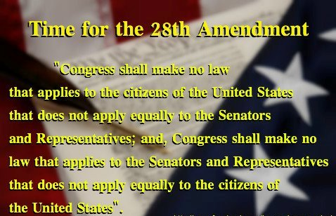 It's time for the 28th Amendment